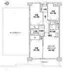 ロイヤルシャトー武蔵新城 401号 -間取り図