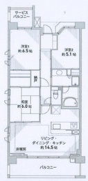 パークホームズ武蔵新城ジェントリーゲート401号室 -間取り図
